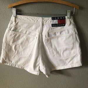 Tommy Hilfiger white spell out shorts